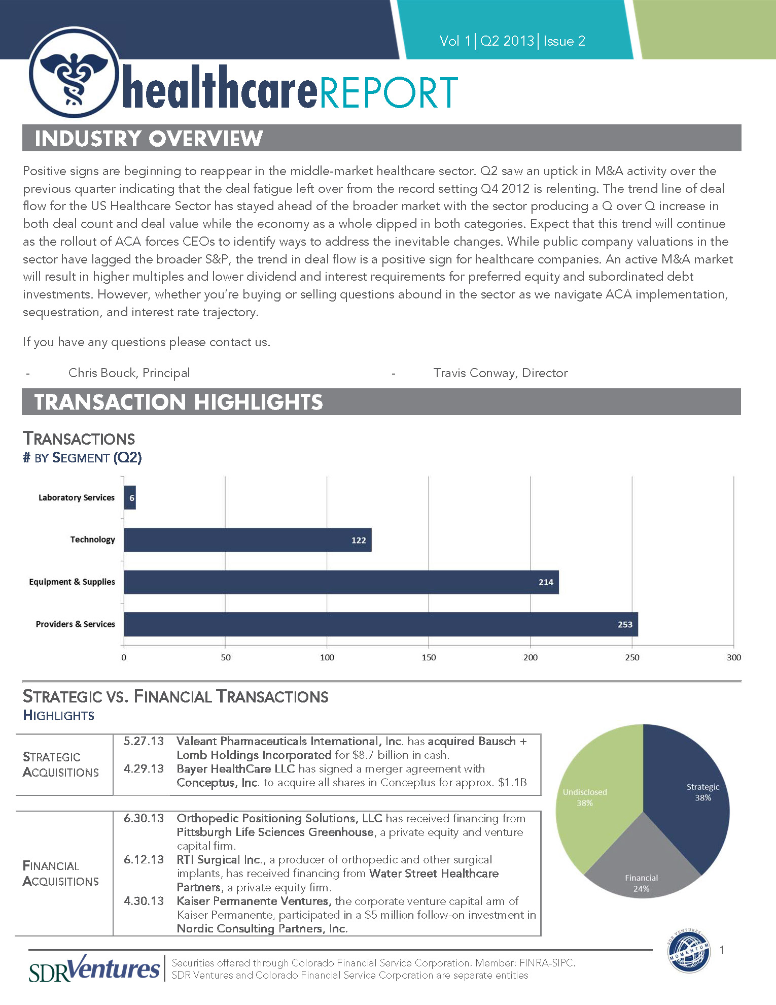 Healthcare Newsletter 2013 Q2