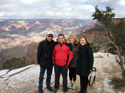 David and Family at the Grand Canyon