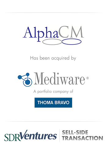 AlphaCM - M&A Case Study - Sell-Side Transaction