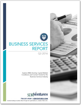 Business Services M&A Report - Q3 2016